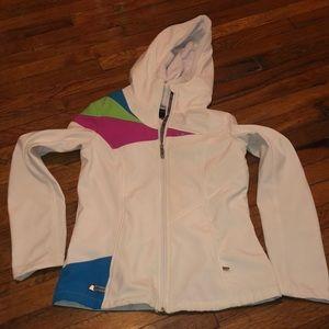 Spyder ladies coat jacket medium white blue pink